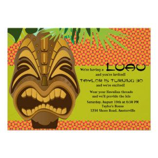 Convite de festas de Tiki Luau da ilha