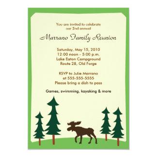 Convite de festas do alojamento 5x7 de Adirondack