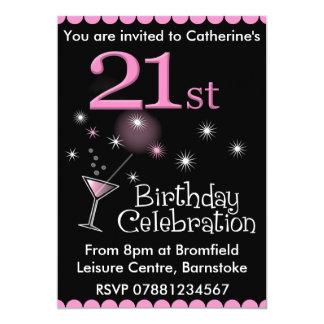 Convite de festas do aniversário de 21 anos -