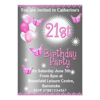 Convite de festas do aniversário de 21 anos das