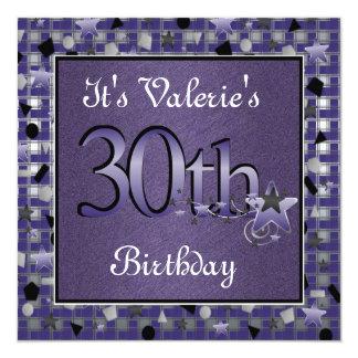 Convite de festas do aniversário de 30 anos