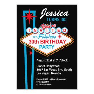 Convite de festas do aniversário de 30 anos de Las Convite 12.7 X 17.78cm