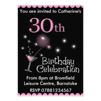 Convite de festas do aniversário de 30 anos - vidr