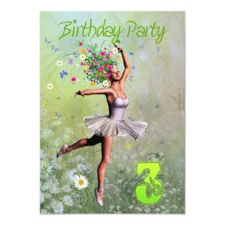 Convite de festas do aniversário de 3 anos