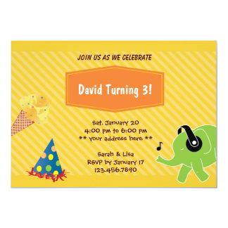 Convite de festas do aniversário de 3 anos do