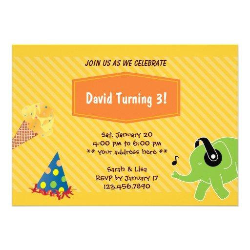 Convite de festas do aniversário de 3 anos do sorv
