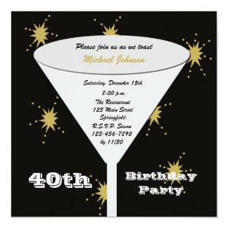 Convite de festas do aniversário de 40 anos --