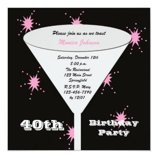 Convite de festas do aniversário de 40 anos -