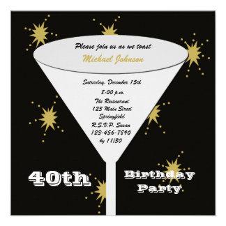Convite de festas do aniversário de 40 anos -- Bri