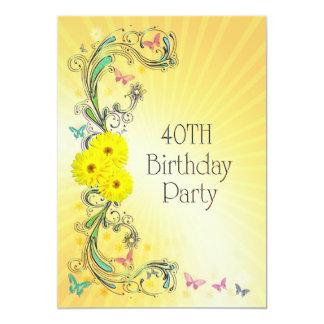 Convite de festas do aniversário de 40 anos com