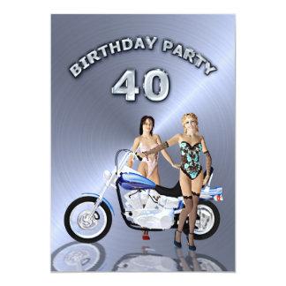 Convite de festas do aniversário de 40 anos com um