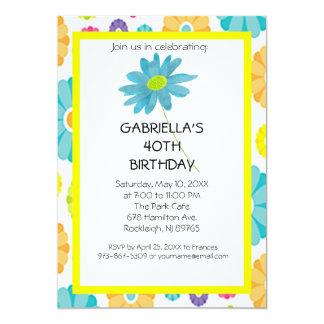 Convite de festas do aniversário de 40 anos da