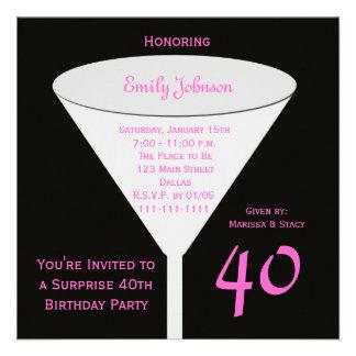 Convite de festas do aniversário de 40 anos da sur