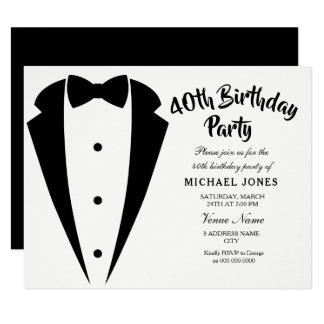 Convite de festas do aniversário de 40 anos dos