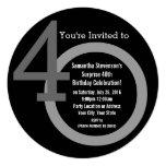 Convite de festas do aniversário de 40 anos dos convite quadrado 13.35 x 13.35cm