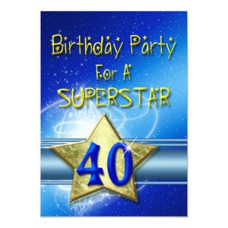 Convite de festas do aniversário de 40 anos para