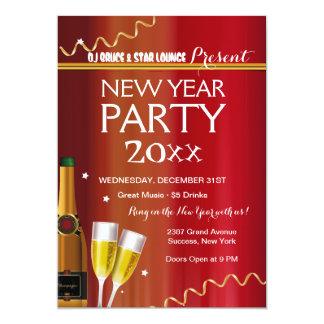 Convite de festas do ano novo