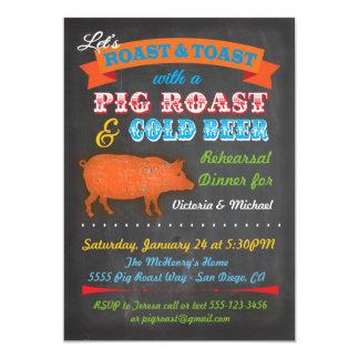 Convite de festas do assado do porco do quadro