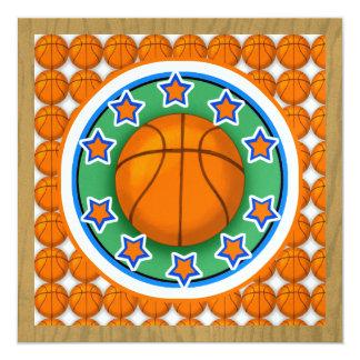 Convite de festas do basquetebol