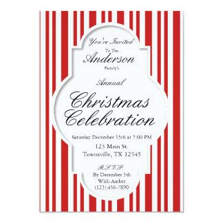 Convite de festas do bastão de doces do Natal