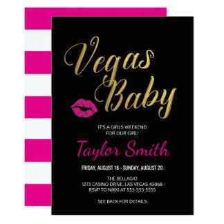 Convite de festas do bebê de Vegas