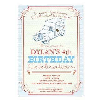 Convite de festas do caminhão do sorvete