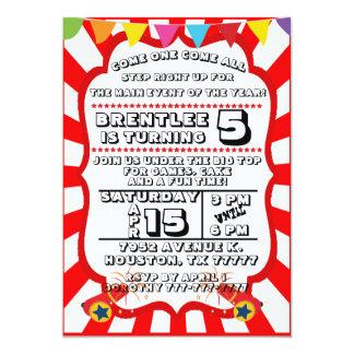 Convite de festas do carnaval, convite do circo