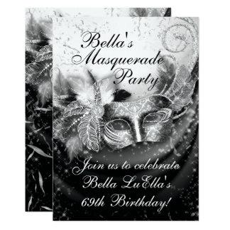 Convite de festas do carnaval do mascarada