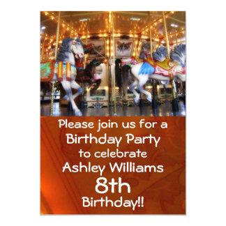 Convite de festas do carrossel