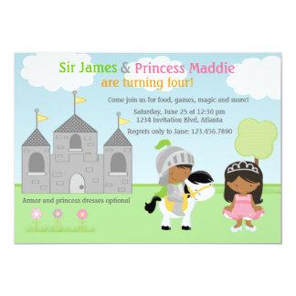 Convite de festas do cavaleiro e da princesa Gêmeo