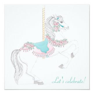 Convite de festas do cavalo do carrossel
