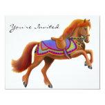 Convite de festas do cavalo do circo