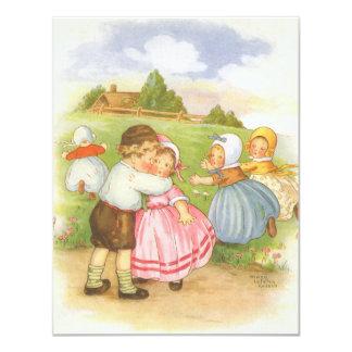 Convite de festas do chá de fraldas da rima de
