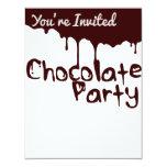 Convite de festas do chocolate