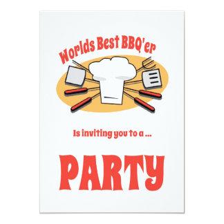 Convite de festas do CHURRASCO com utensílios