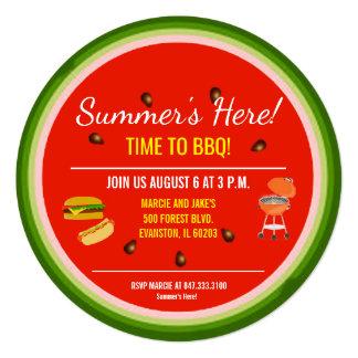 convite de festas do churrasco da melancia
