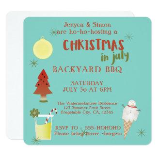 Convite de festas do CHURRASCO do quintal do Natal