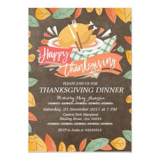 Convite de festas do comensal da acção de graças