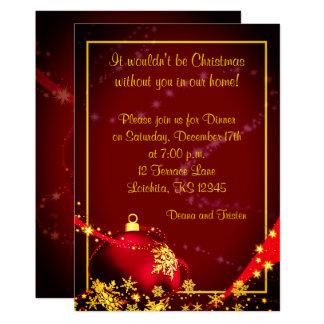 Convite de festas do comensal da bola do Natal de