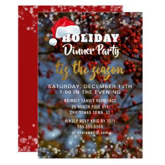 Convite de festas do comensal da época natalícia