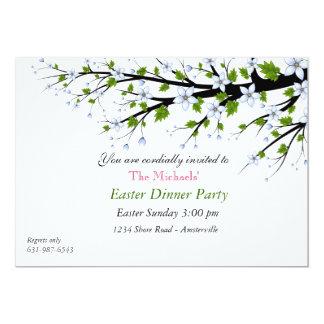 Convite de festas do comensal da páscoa das flores