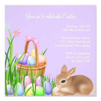 Convite de festas do comensal da páscoa do jardim