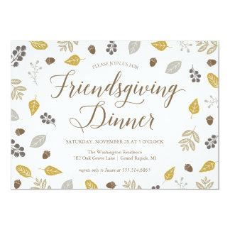 Convite de festas do comensal de Friendsgiving do