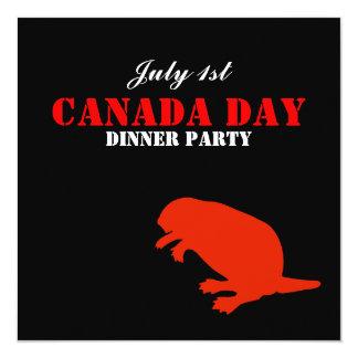 Convite de festas do comensal do dia de Canadá do
