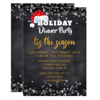Convite de festas do comensal do feriado do ouro