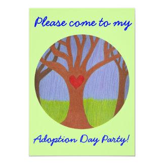 Convite de festas do dia da adopção da árvore da