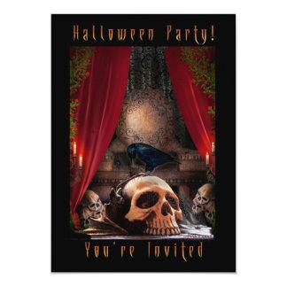 Convite de festas do Dia das Bruxas - antro dos