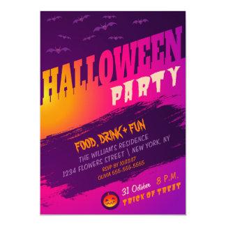 Convite de festas do Dia das Bruxas com bastões