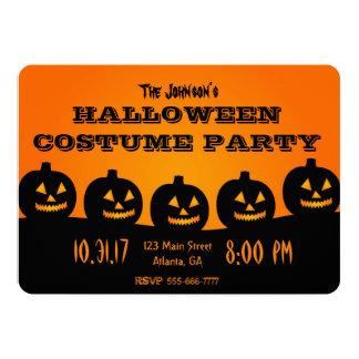 Convite de festas do Dia das Bruxas da abóbora