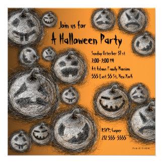 Convite de festas do Dia das Bruxas da família da